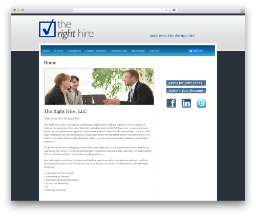 WordPress template Right Hire Recruiting - therighthirerecruiting.com