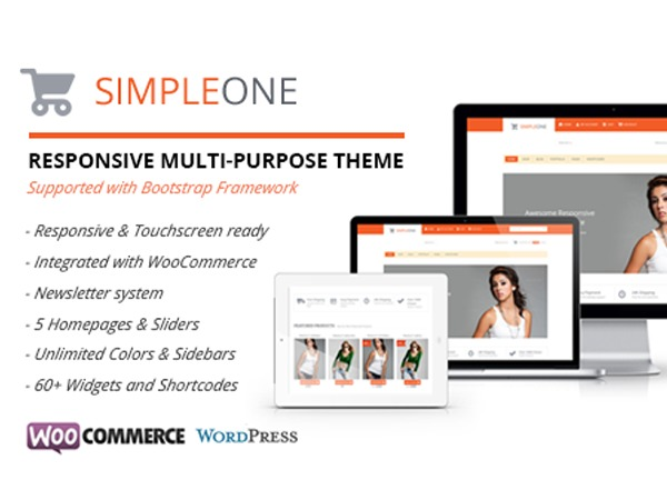 WordPress template Simpleone Child Theme