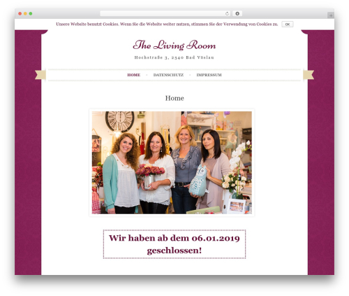 WordPress template Sugar and Spice - thelivingroom.at