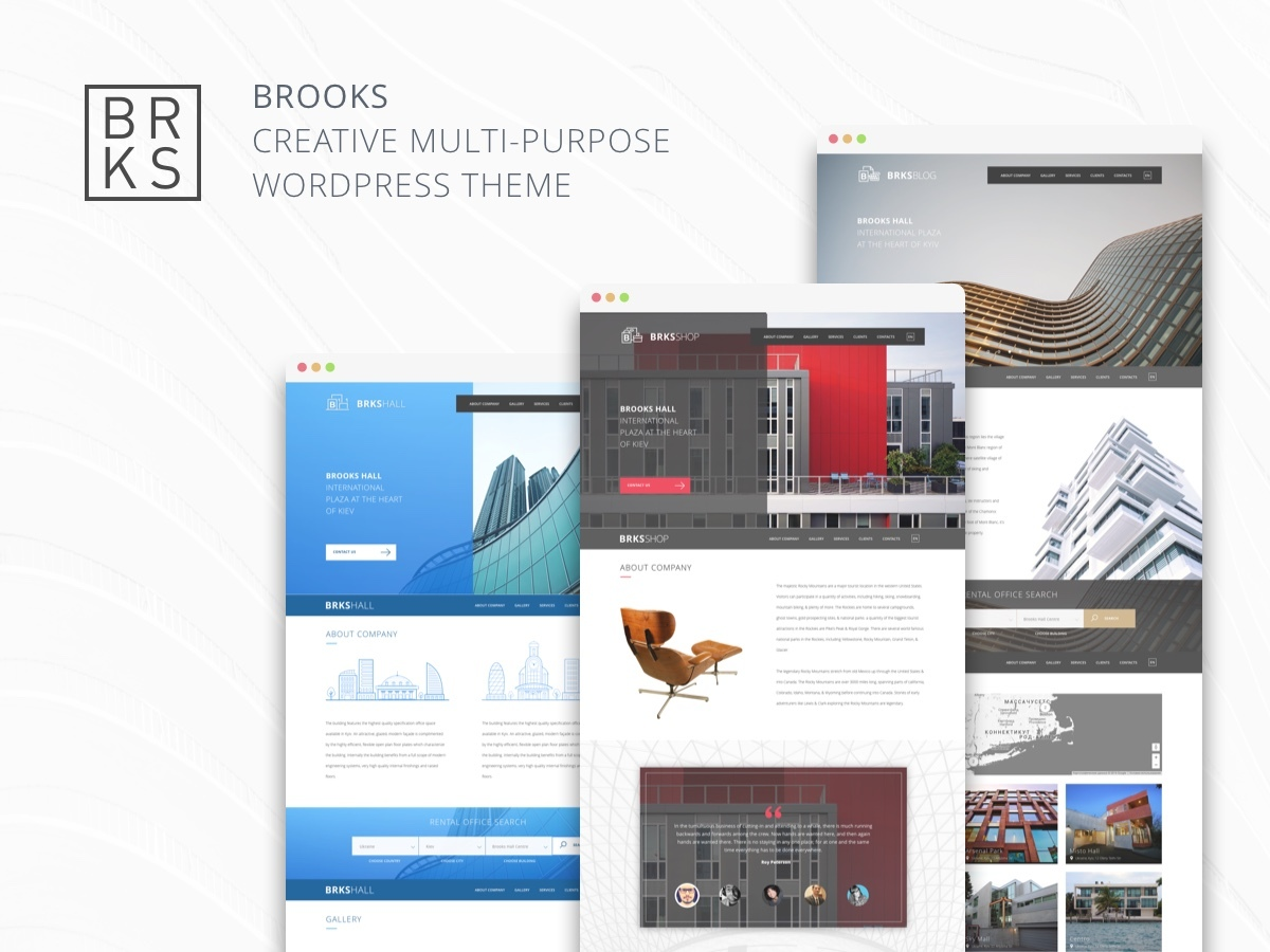 WordPress theme Brooks