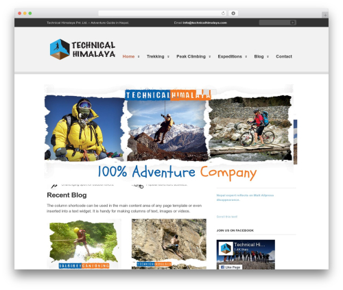 WordPress theme Clearly Modern - technicalhimalaya.com