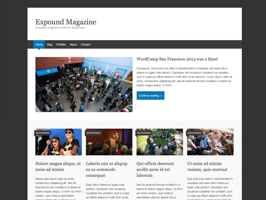 WordPress website template ExpoundChild