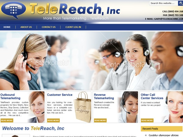 WordPress website template TeleReach Inc