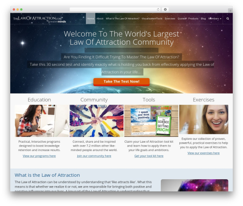 WordPress styles-with-shortcodes plugin - thelawofattraction.com