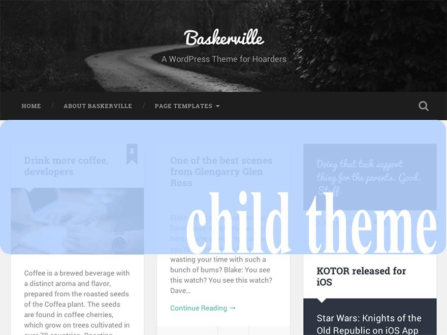 Baskerville Child Theme theme WordPress