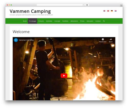 Best WordPress template GeneratePress - vammencamping.dk