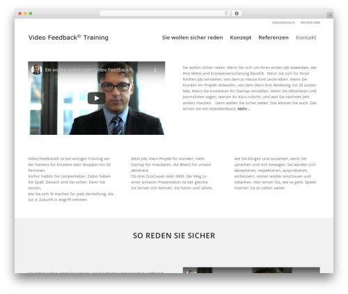 Best WordPress theme Enfold - videofeedbacktraining.de