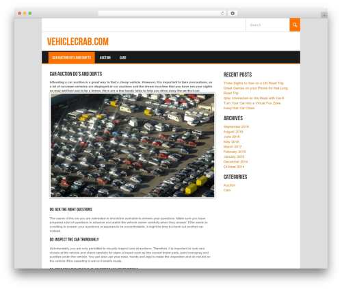 Best WordPress theme Koenda - vehiclecrab.com