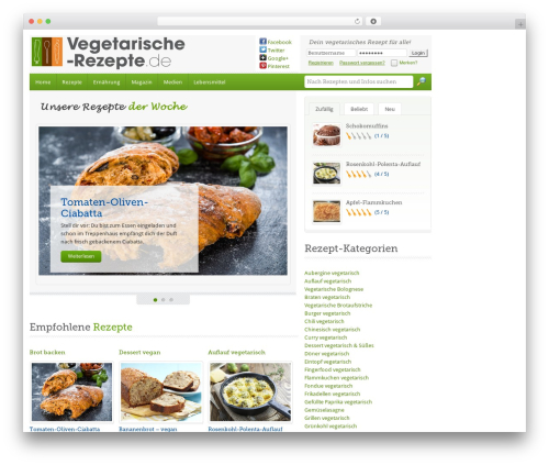 Food recipes theme wordpress free by fasterthemes page 11 food recipes theme free download vegetarische rezepte forumfinder Choice Image