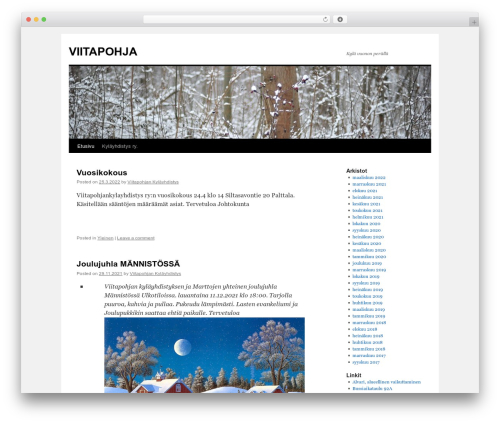 Twenty Ten template WordPress free - viitapohja.fi