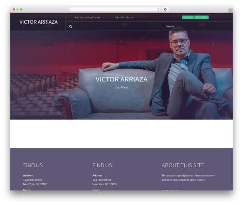Beat Mix Lite WordPress theme design - victorarriaza.com