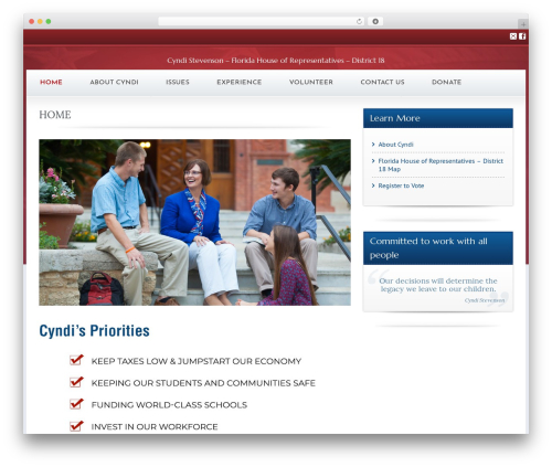 Best WordPress theme Candidate - vote4cyndi.com
