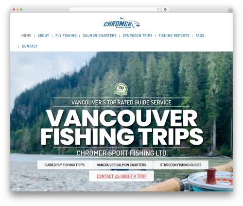 Bridge WordPress theme - vancouverfishingtrips.com