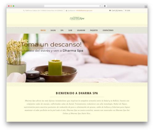 Dream Spa WordPress website template - dharma-spa.com