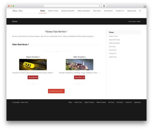 Enfold template WordPress - vienna-taxis.com