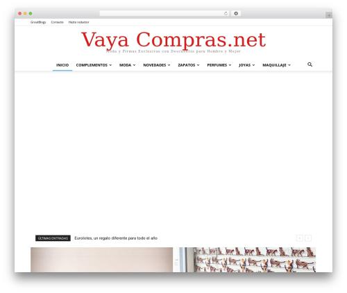 Newspaper company WordPress theme - vayacompras.net