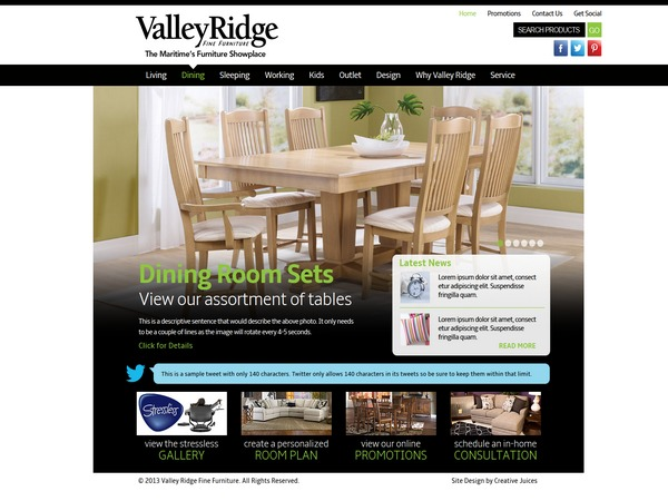 ValleyRidge WordPress template