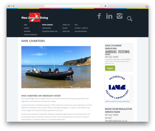 Best WordPress template Biosphere - nzdiving.co.nz/local-charters/dive-charters