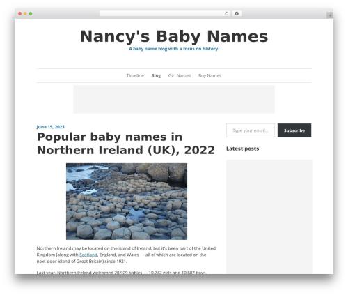Daniela WordPress gaming theme - nancy.cc