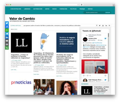 FastNews Light WordPress magazine theme - valordecambio.com