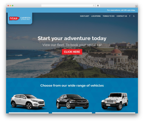 RentIt motors WordPress theme - viascarrental.com