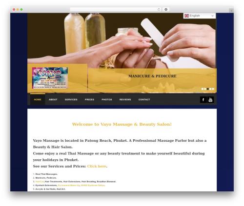 Spalon WordPress theme - vayomassage.com