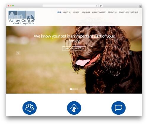 Theme WordPress PetCare - valleycentervet.com
