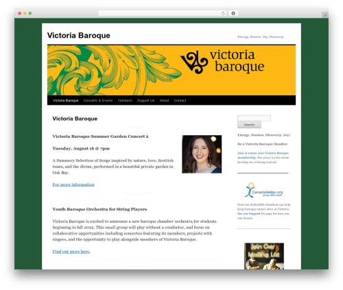 Twenty Ten WordPress template free - victoria-baroque.com