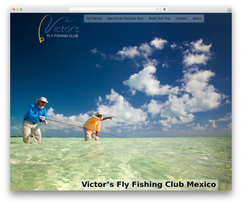 WordPress template Black Label - victorsflyfishingclub.com