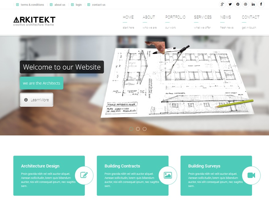 Arkitekt WordPress shopping theme
