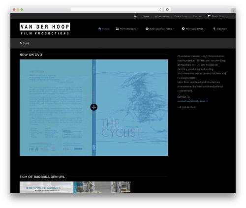 Everything WordPress theme design - vanderhoopfilm.com