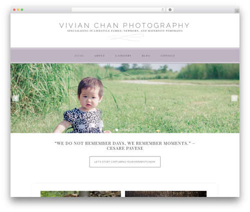 Faithful Theme WordPress gallery theme - vivchan.com