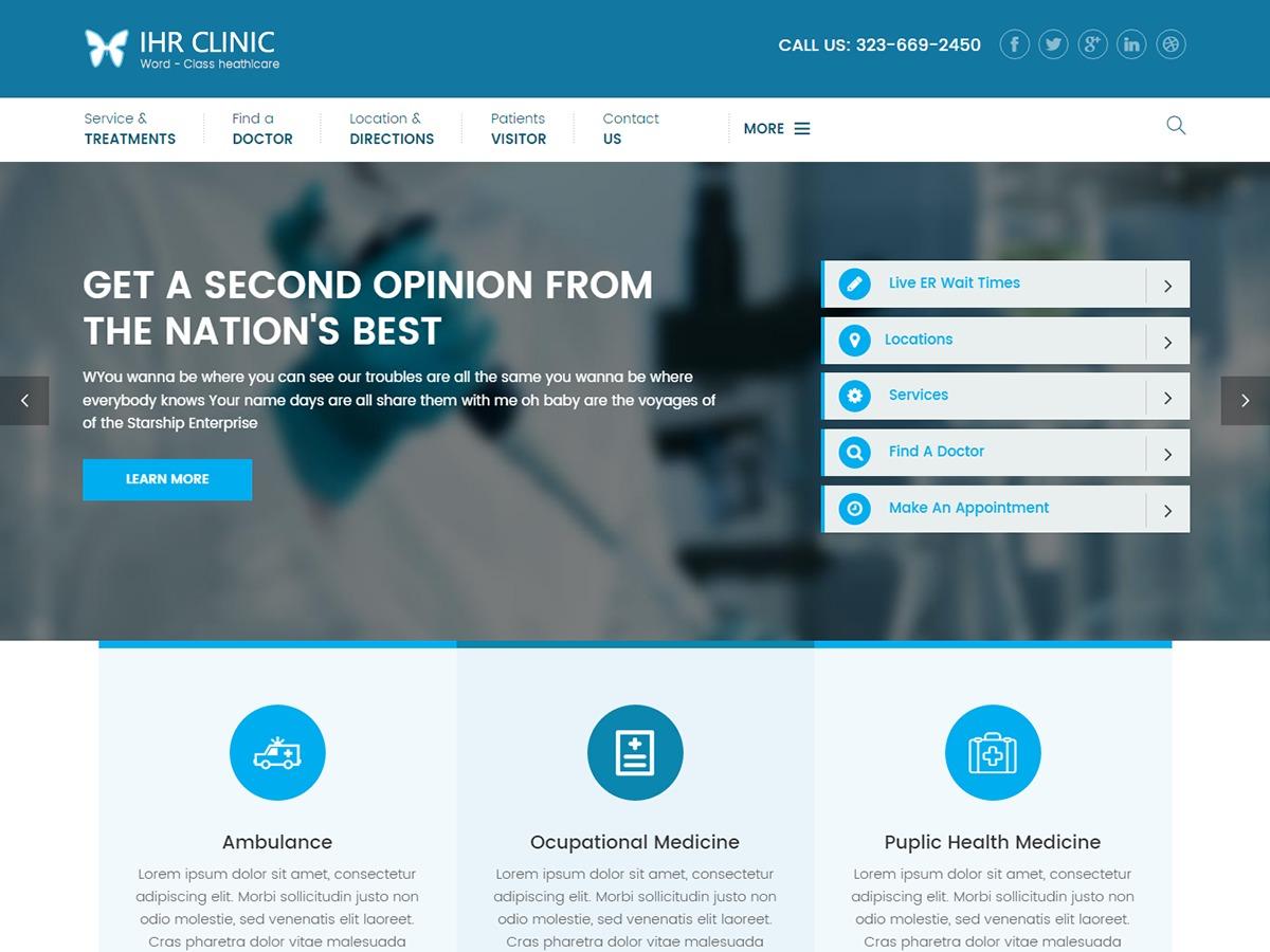 Ihr Clinic Child best WordPress magazine theme