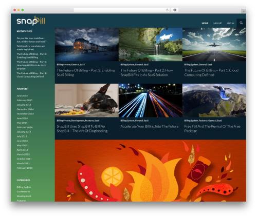 Twenty Fourteen best WordPress theme - news.snapbill.com
