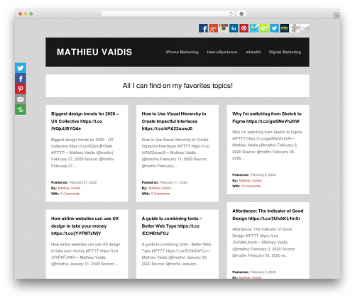 WordPress website template Tetris - vaidis.com