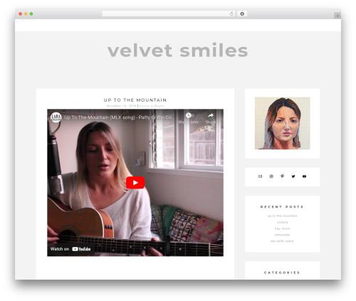 Aurora best WordPress theme - velvetsmiles.com