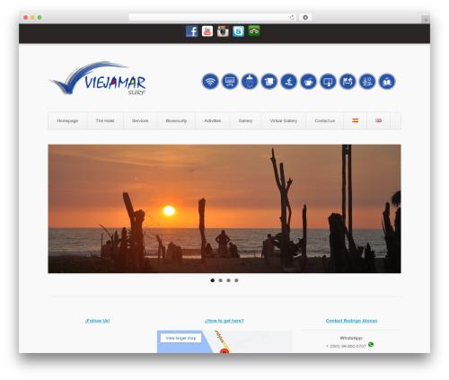 Aviator best hotel WordPress theme - viejamar.com