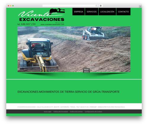 LizardBusiness business WordPress theme - vicenteexcavaciones.com
