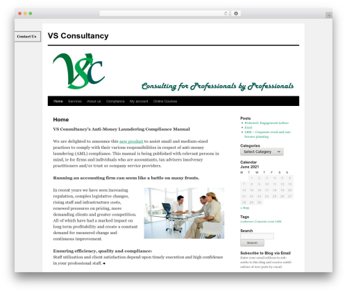 Twenty Ten free WordPress theme - vesconsultants.com