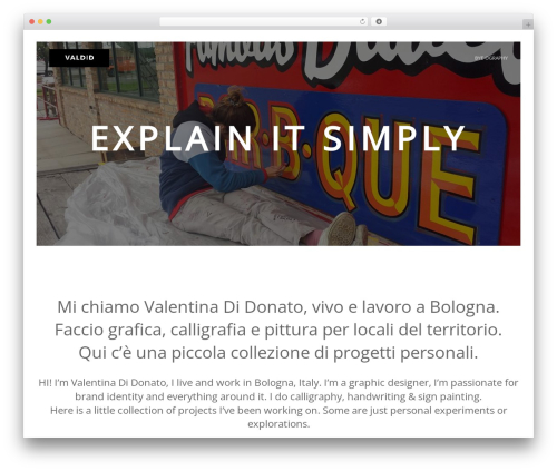 WordPress theme Marquez - valdid.com