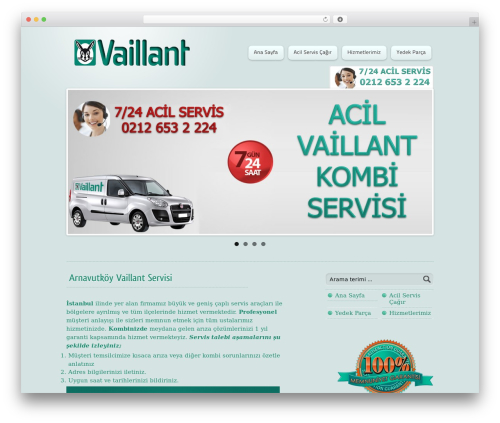 WordPress theme Wipi - vaillant-teknikservis.com
