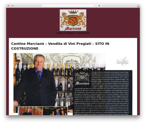Bubbly free WP theme - vinimarciano.it