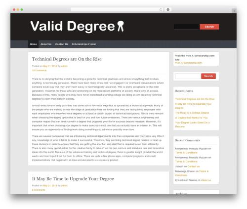 Themolio WordPress theme - validdegree.com