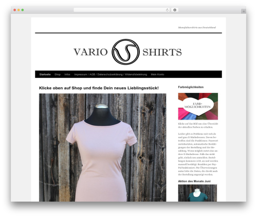 Twenty Ten free website theme - vario-shirts.com