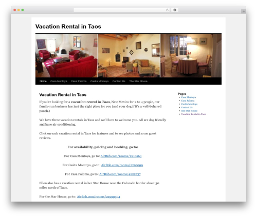 Twenty Ten WordPress template free - vacationrentalintaos.com