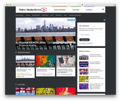 VideoZ WordPress movie theme - videoshakedown.com