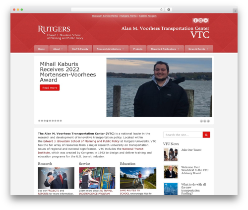 Barely Corporate WordPress theme - vtc.rutgers.edu