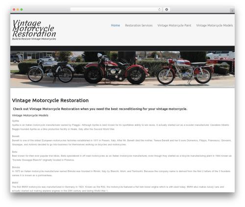 Celestial WordPress shopping theme - vintagemotorcyclerestoration.com