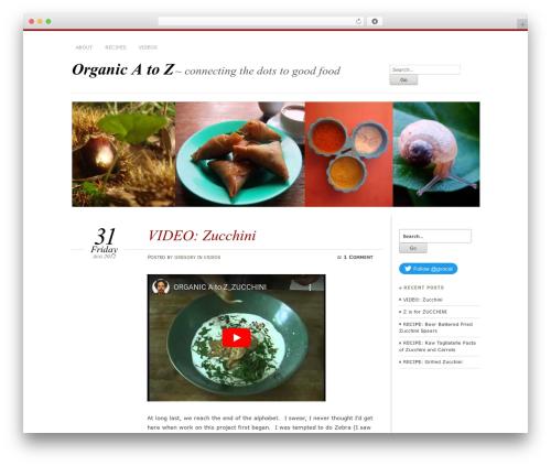 Chateau food WordPress theme - organicatoz.com