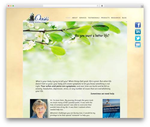 Genesis WordPress theme design - oasisenergyhealingcenter.com